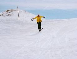 Efrem gets some air on the slopes of Val d'Isere in 1995